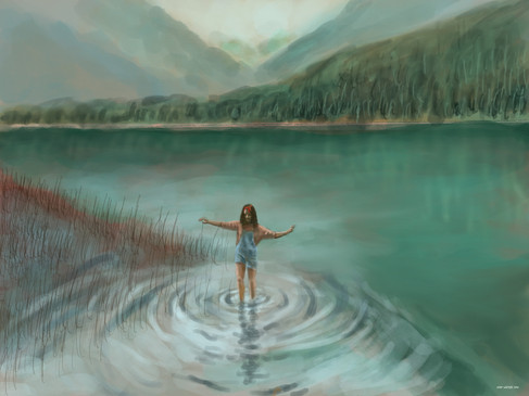 The Girl In The Water (based on the photo by Andy Vu)
