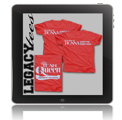 Team Queen Tees for Delma Woods