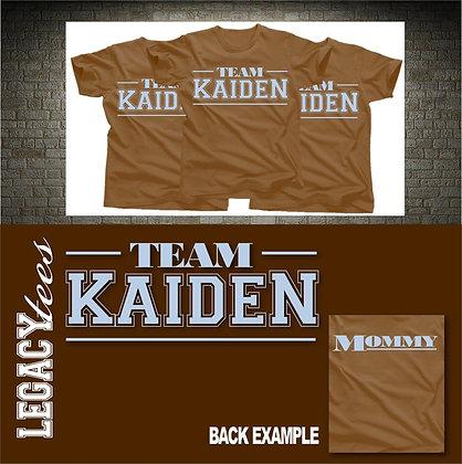 Team Kaiden Baby Shower Tees