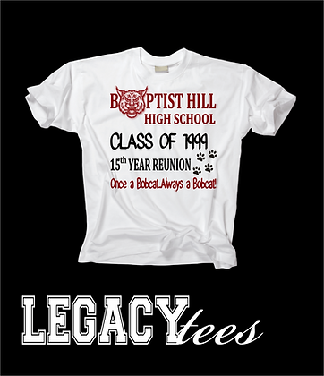 BHHS Class of 1999 Reunion Shirts