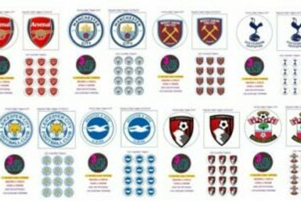 ANY TEAM LOGO EDIBLE WAFER ICING CAKE CUPCAKE TOPPERS BADGE