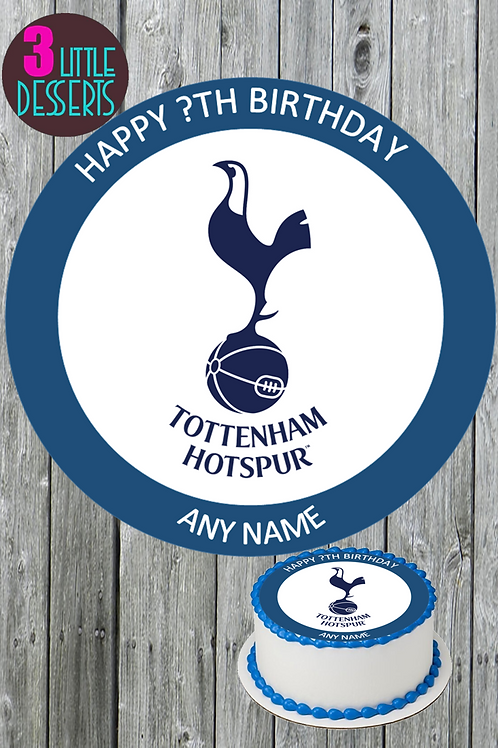 """TOTTENHAM 7.5"""" EDIBLE BIRTHDAY CAKE CUPCAKE TOPPERS WAFER ICING PERSON"""