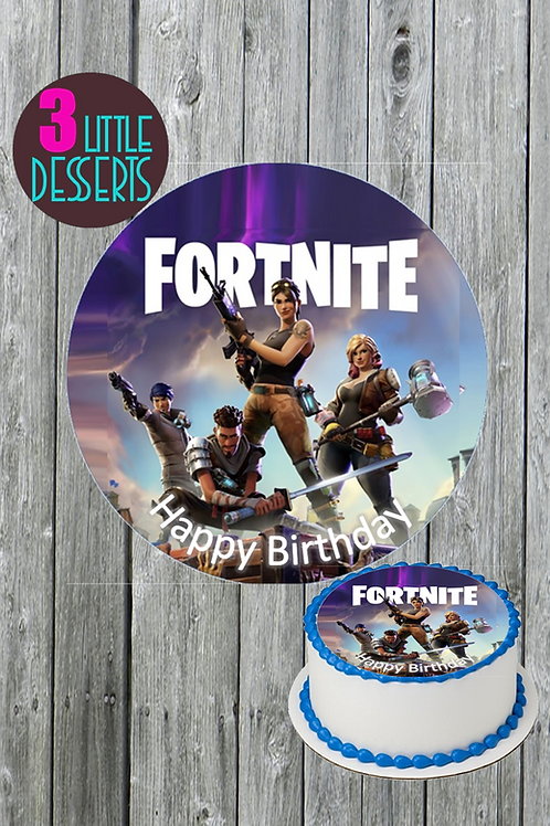 FORTNITE / ANY LOGO EDIBLE WAFER ICING CAKE CUPCAKE TOPPERS BADGE