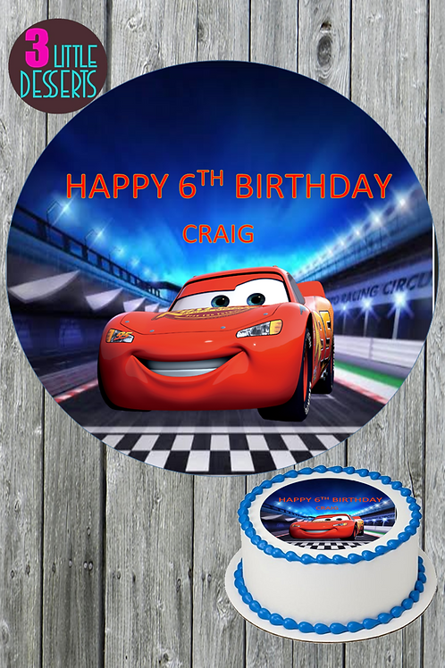 CARS MOVIE  / ANY CAR LOGO EDIBLE WAFER ICING CAKE CUPCAKE TOPPERS BADGE