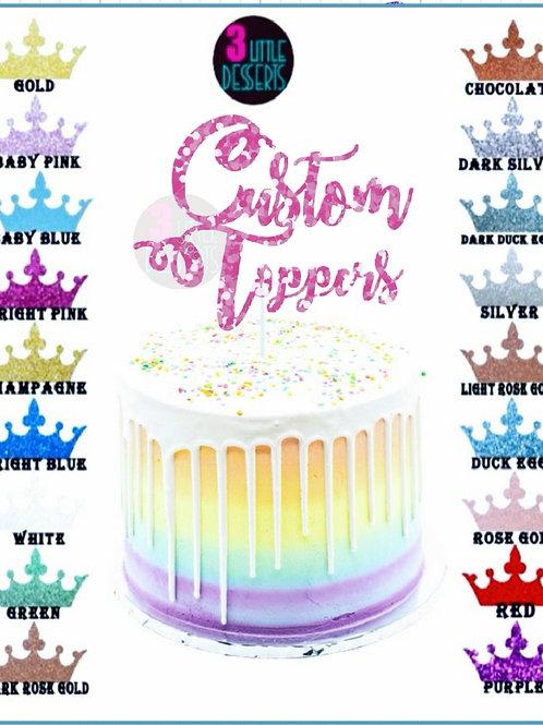 Custom Topper Glitter Card Stock