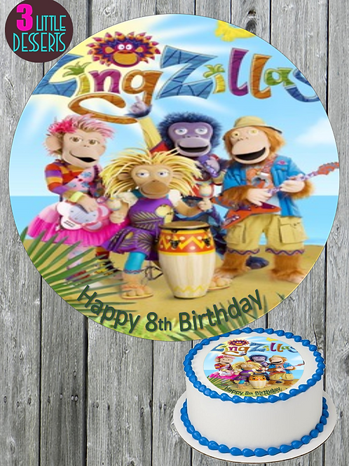 """ZINGZILLAS 7.5"""" EDIBLE BIRTHDAY CAKE CUPCAKE TOPPERS WAFER ICING PERSON"""