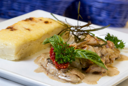 pork tenderloin with gratin dauphinois