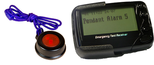Call button with Alphanumeric Radio Pager Alarm