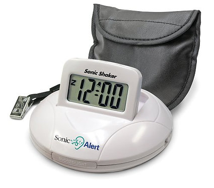 Sonic Shaker Portable Alarm Clock
