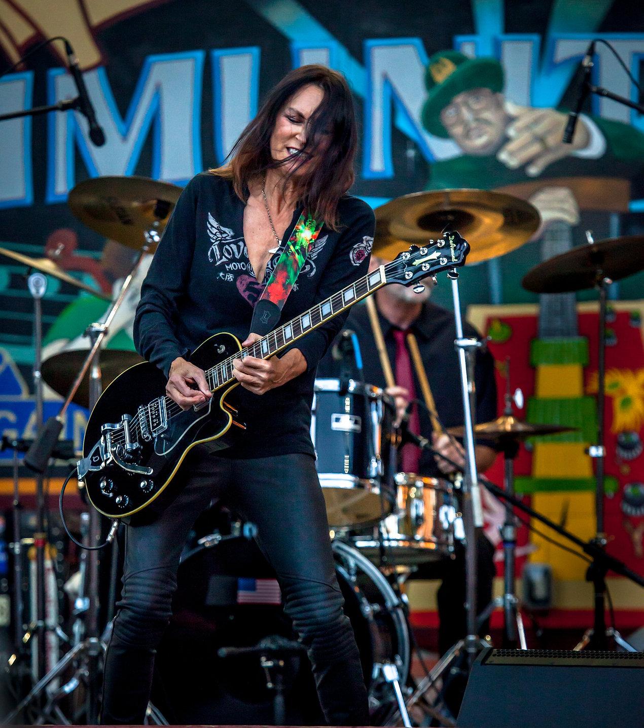 Nancy Luca Los Angeles based rock musician, lead guitarist at Paris Opera house