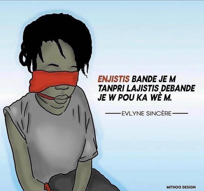 Pavillon en berne, pour réclamer justice en faveur d'Evelyne Sincère...