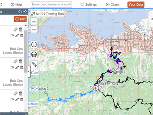 8/1/21 Training Run Routes/Maps