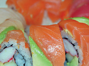 RAINBOW ROLL at the Sushi Place in El Paso
