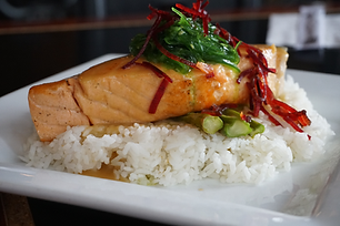 Miso Salmon at the Sushi Place in El Paso