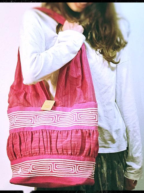 Fair Trade Pink Cotton Bag
