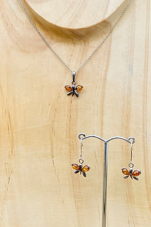 Butterfly AmberEarrings