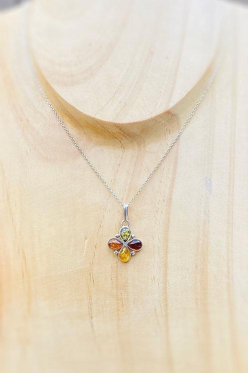 Multi Amber stone Pendant