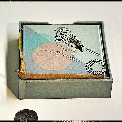 Glass Bird Coasters