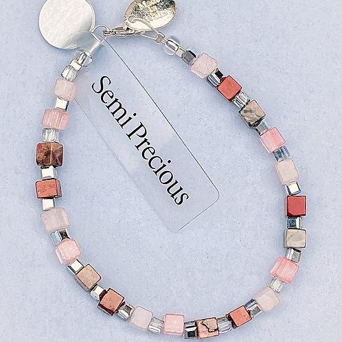 Semi Precious Cube Bracelet