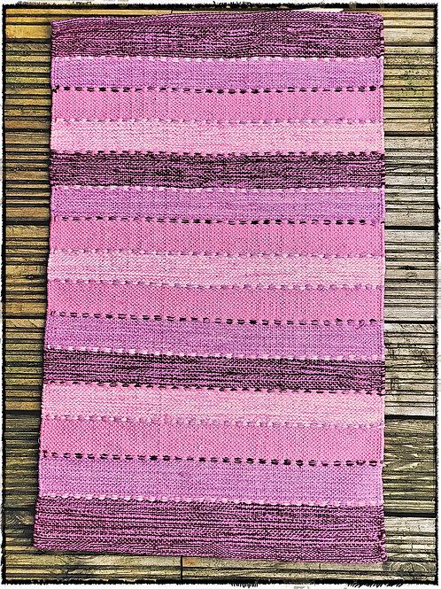Pink/Lavender Stripe Cotton Rug