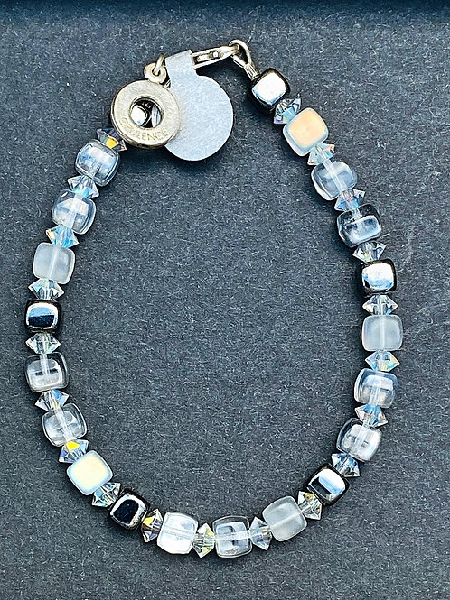 Clear and Grey Bracelet