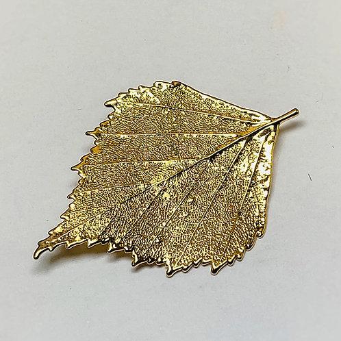 Birch leaf brooch