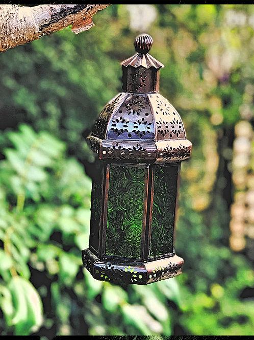 Hand made Green Glass Lantern