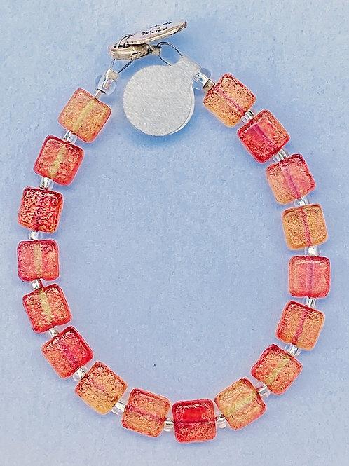 Tangerine glass bracelet