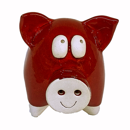 Red Pig Statue