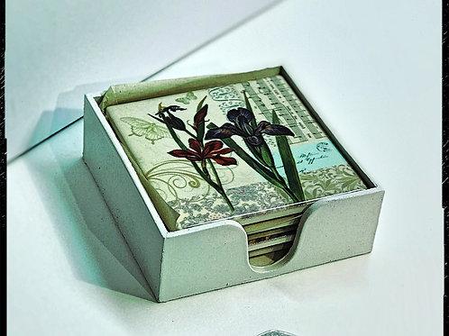 Ceramic flower coasters