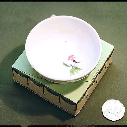 Small porcelain flower bowl