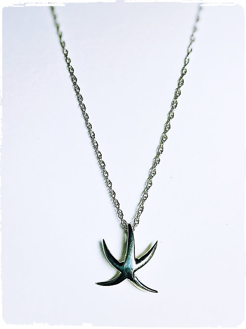 Sterling silver Small Starfish Necklace