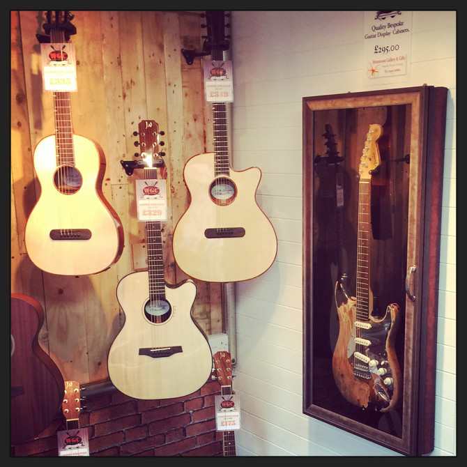 Worcester Guitar Center opens Saturday the 10th October in reindeer court. Check out the guitar cabi