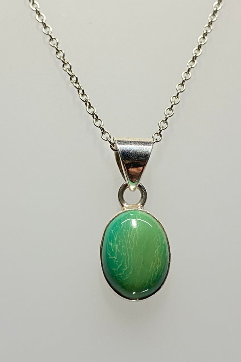 Small oval Turquoise Pendant
