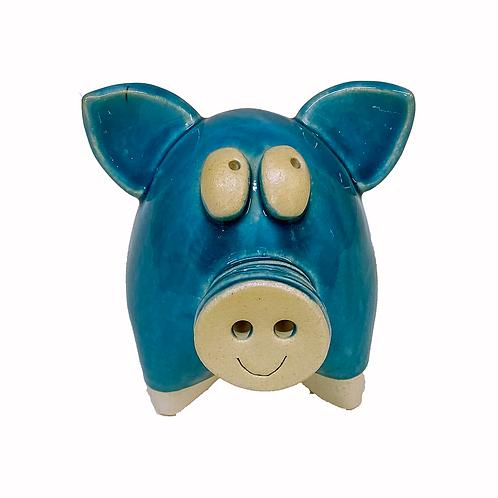 Blue Pig Statue