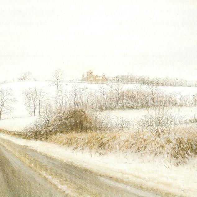 A winters landscape.