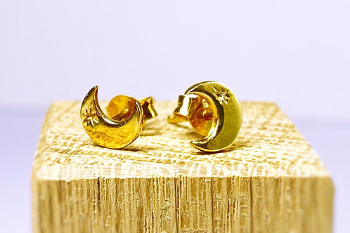 Gold Moon Earring studs
