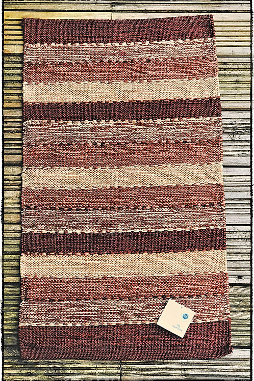 Brown/Natural Stripe Cotton Rug