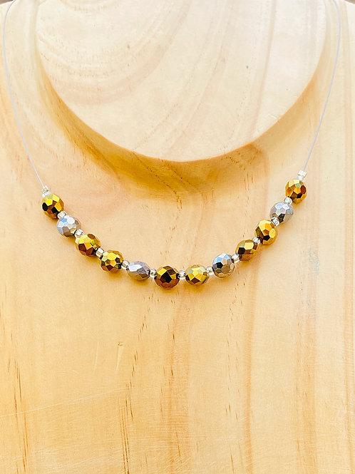Metallic Bronze Necklace
