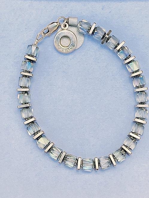 Iridescent Square cube bracelet