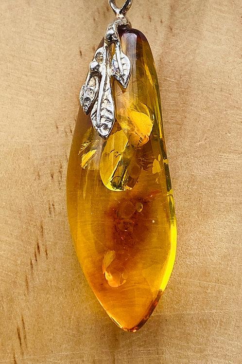 Long Amber Pendant