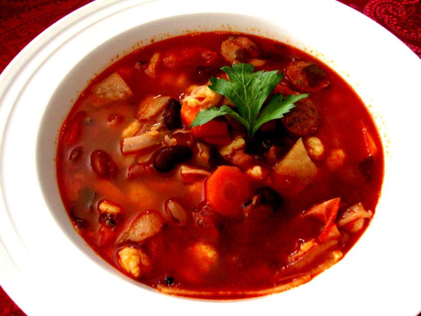 Hungarian Bean Goulash by Helen M. Radics / Best Hungarian Recipes