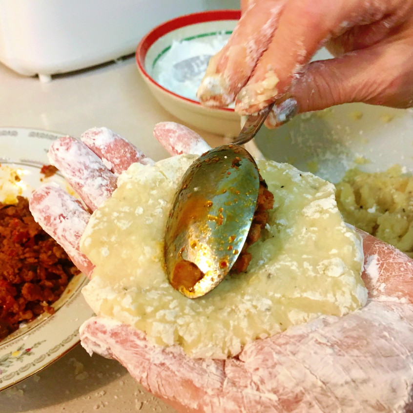 Making Potato Balls 5