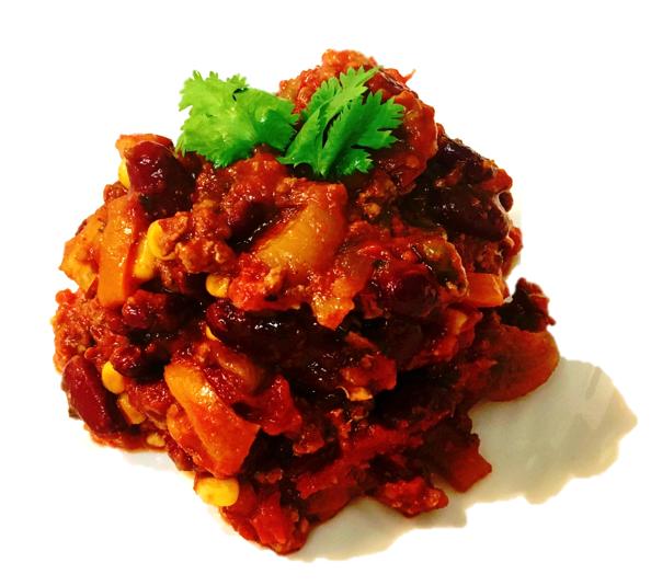 chili turkey on plate B