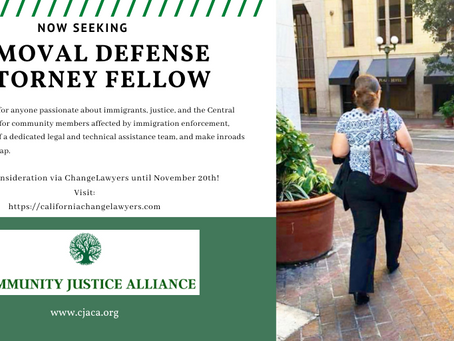 Seeking: Central Valley Removal Defense Attorney Fellow
