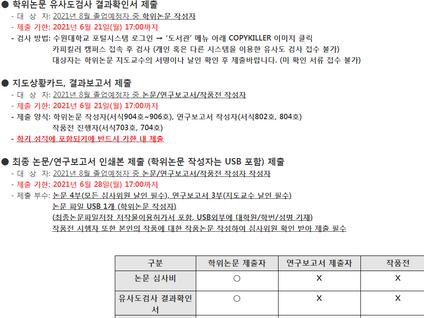 학사일정 (논문 심사)