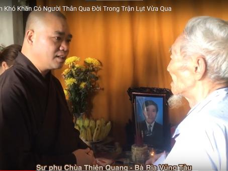 [Phật giáo] Cứu trợ giúp đỡ những gia đình có người thân qua đời trong cơn bão lụt