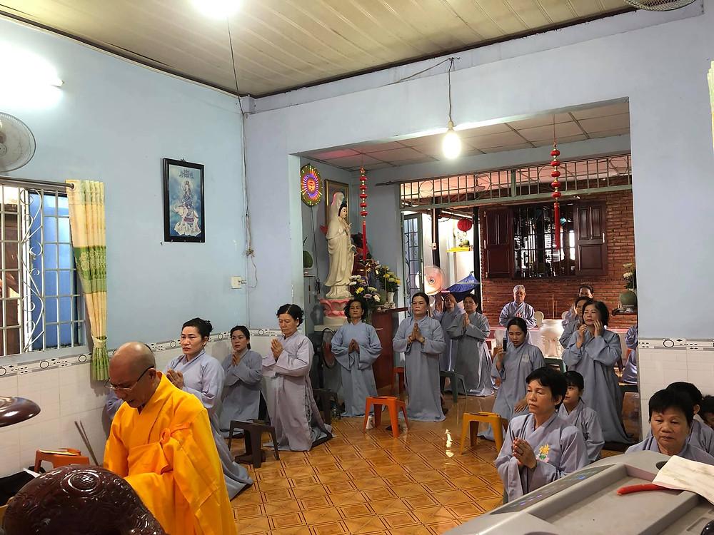 Phật sự tại đạo tràng tịnh thất Lộc Uyển ngày 02/05/2021 nhằm ngày 21/03, năm Tân Sửu (âm lịch)