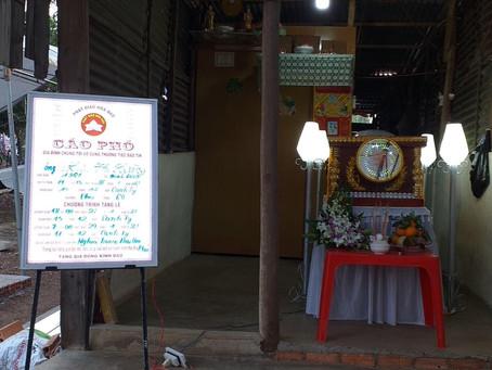 [CAO ĐÀI] Tộc đạo Định Quán kết hợp Phật Giáo Hoà Hảo hỗ trợ tẩn  liệm ông Lưu Chí Hoàng.