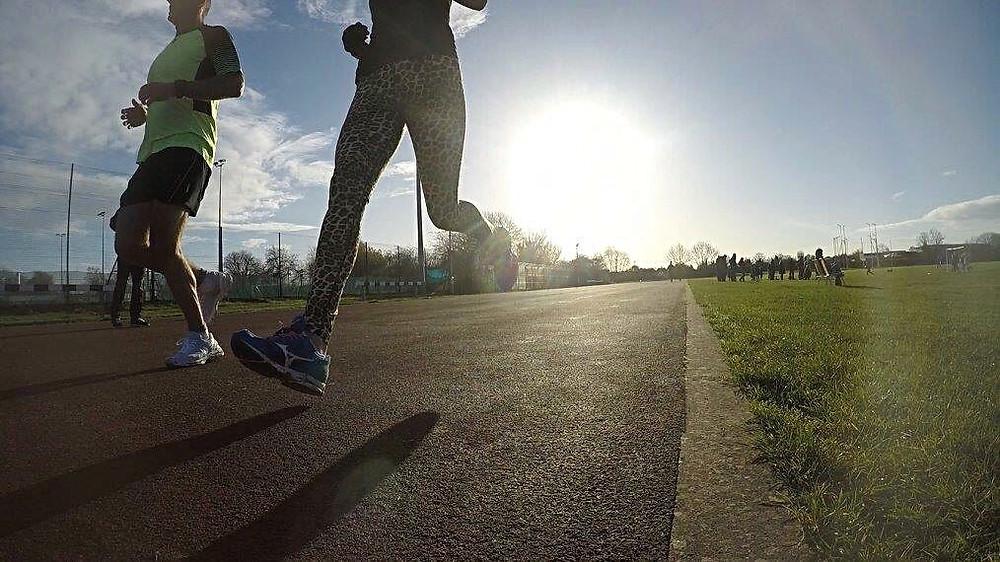 Andrew White running